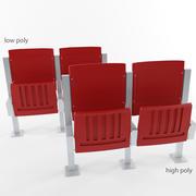 stadion säte hög och låg poly 3d model