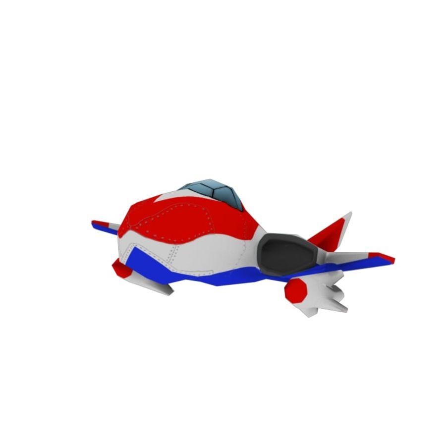 Aereo dei cartoni animati royalty-free 3d model - Preview no. 2