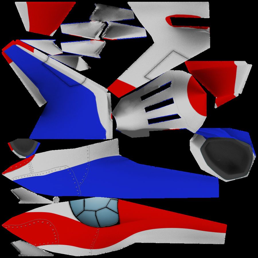 Aereo dei cartoni animati royalty-free 3d model - Preview no. 4