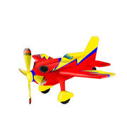 Cartoon plane 3d model