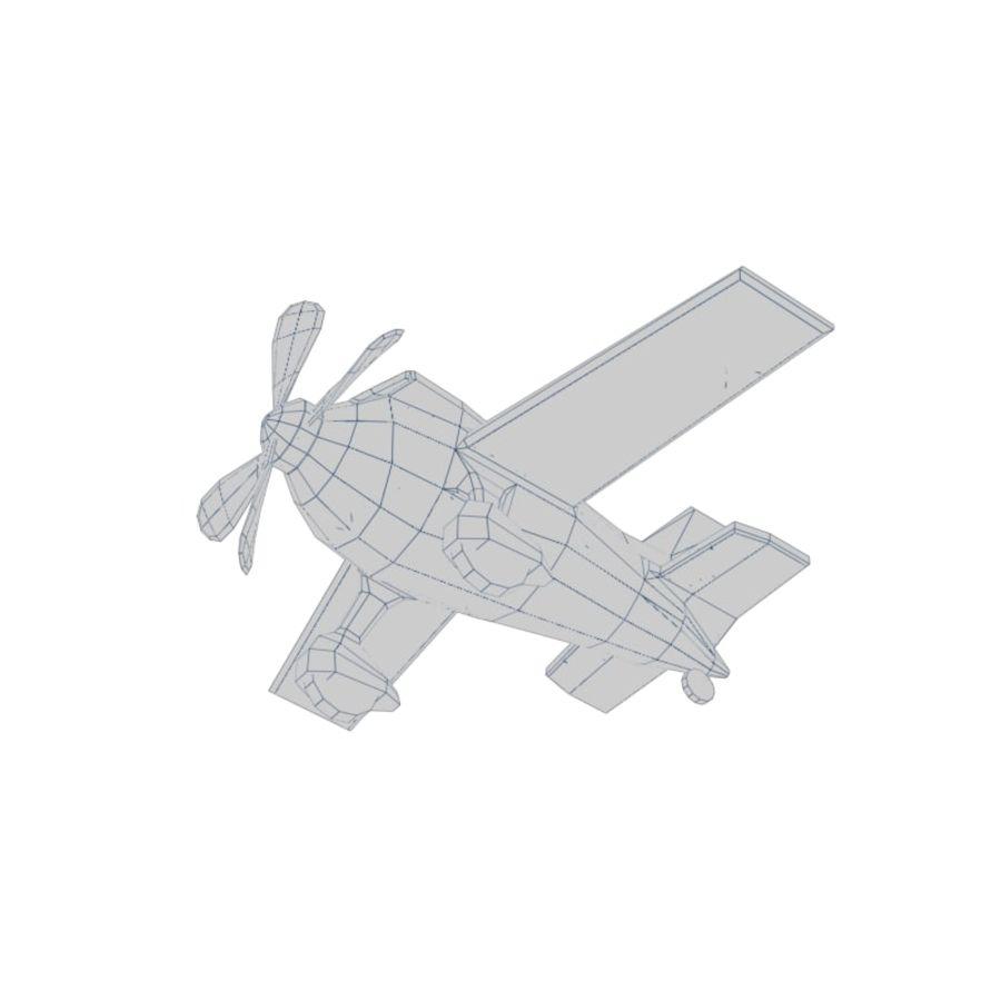 Aereo dei cartoni animati royalty-free 3d model - Preview no. 6