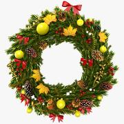 Christmas Wreath 5 3d model
