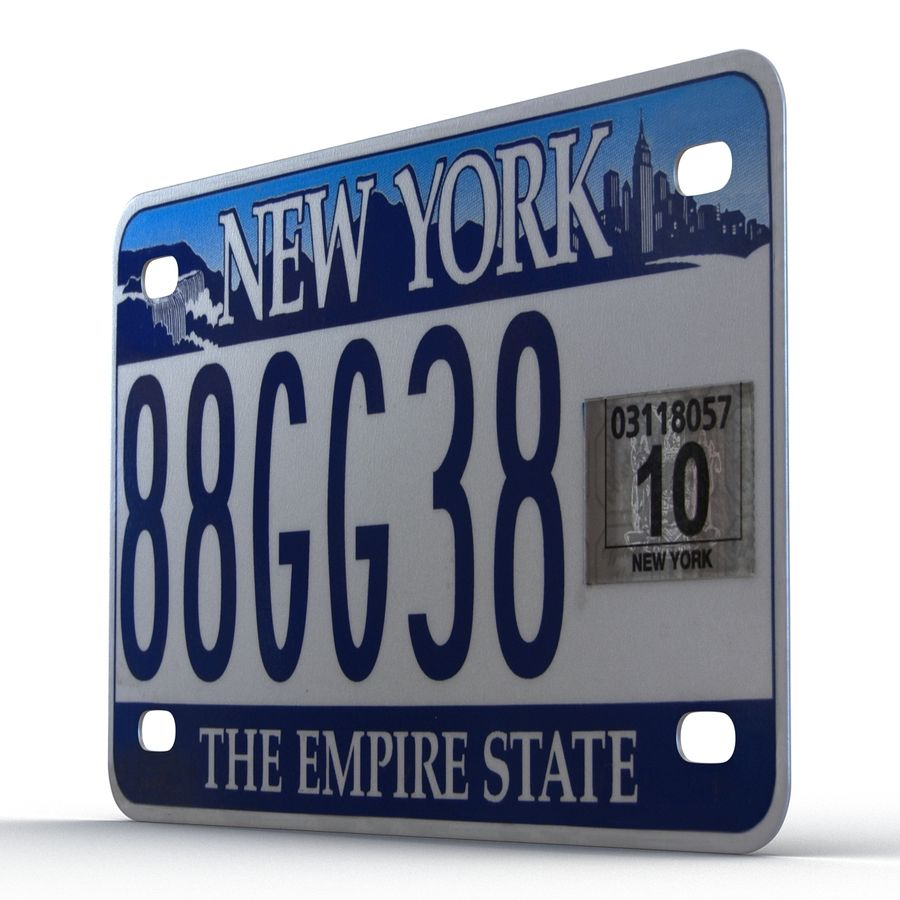 Matrícula do Estado de Nova York royalty-free 3d model - Preview no. 8