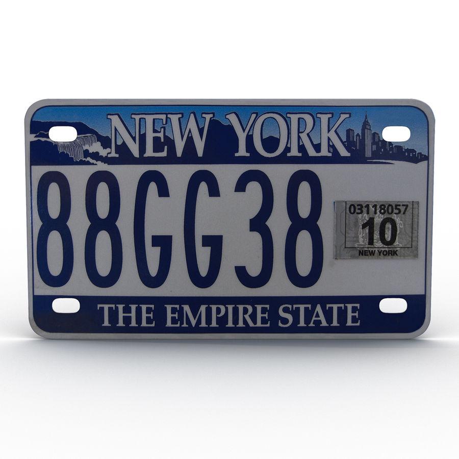 Matrícula do Estado de Nova York royalty-free 3d model - Preview no. 2
