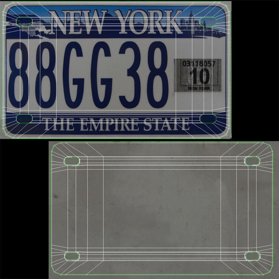 Matrícula do Estado de Nova York royalty-free 3d model - Preview no. 15