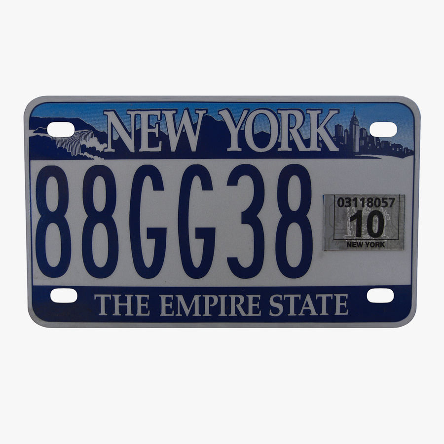 Matrícula do Estado de Nova York royalty-free 3d model - Preview no. 1