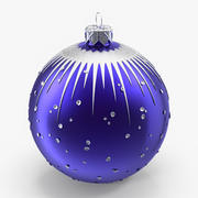 Christmas Blue Ball 3d model