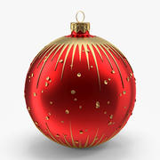 Christmas Red Ball 3d model
