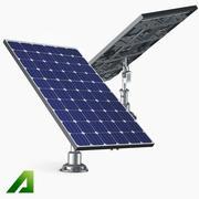单晶硅太阳能电池板 3d model
