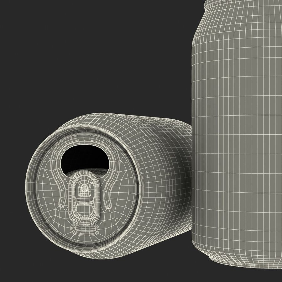 Open Beer Can 3D Model royalty-free 3d model - Preview no. 19