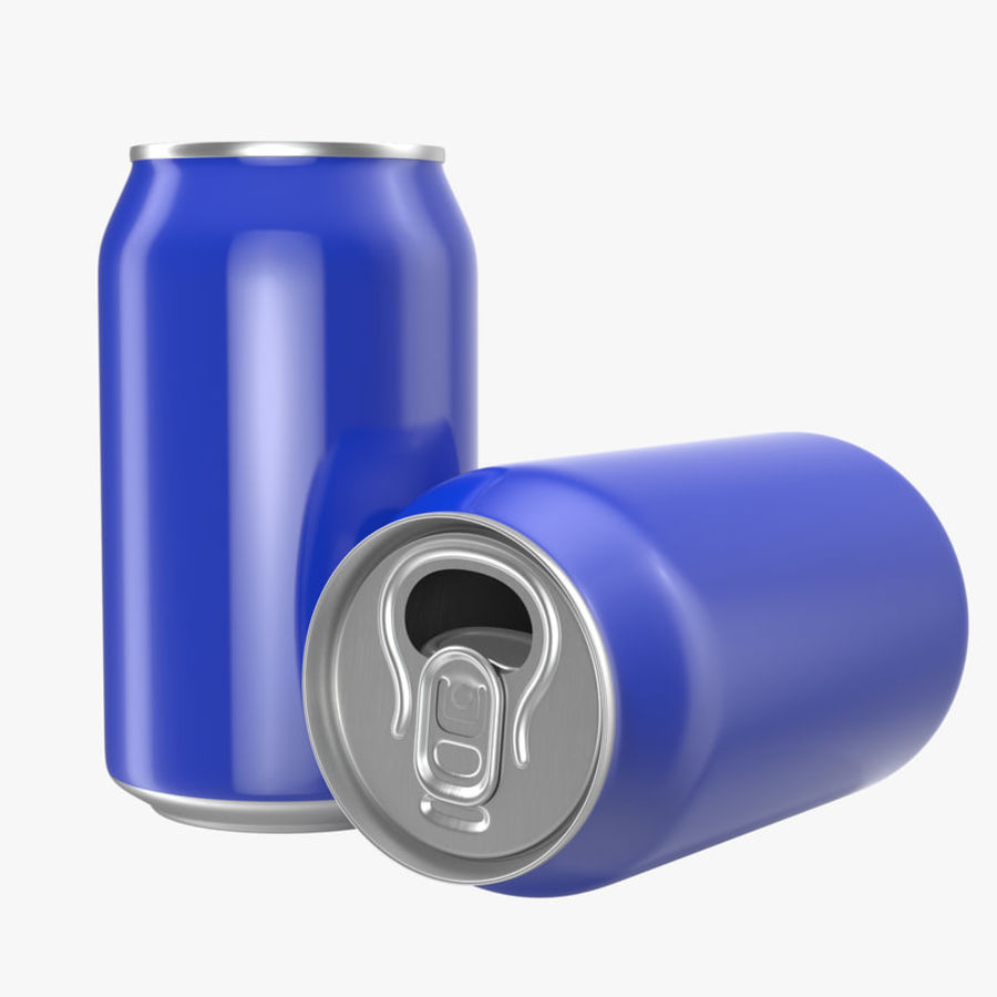 Open Beer Can 3D Model royalty-free 3d model - Preview no. 1