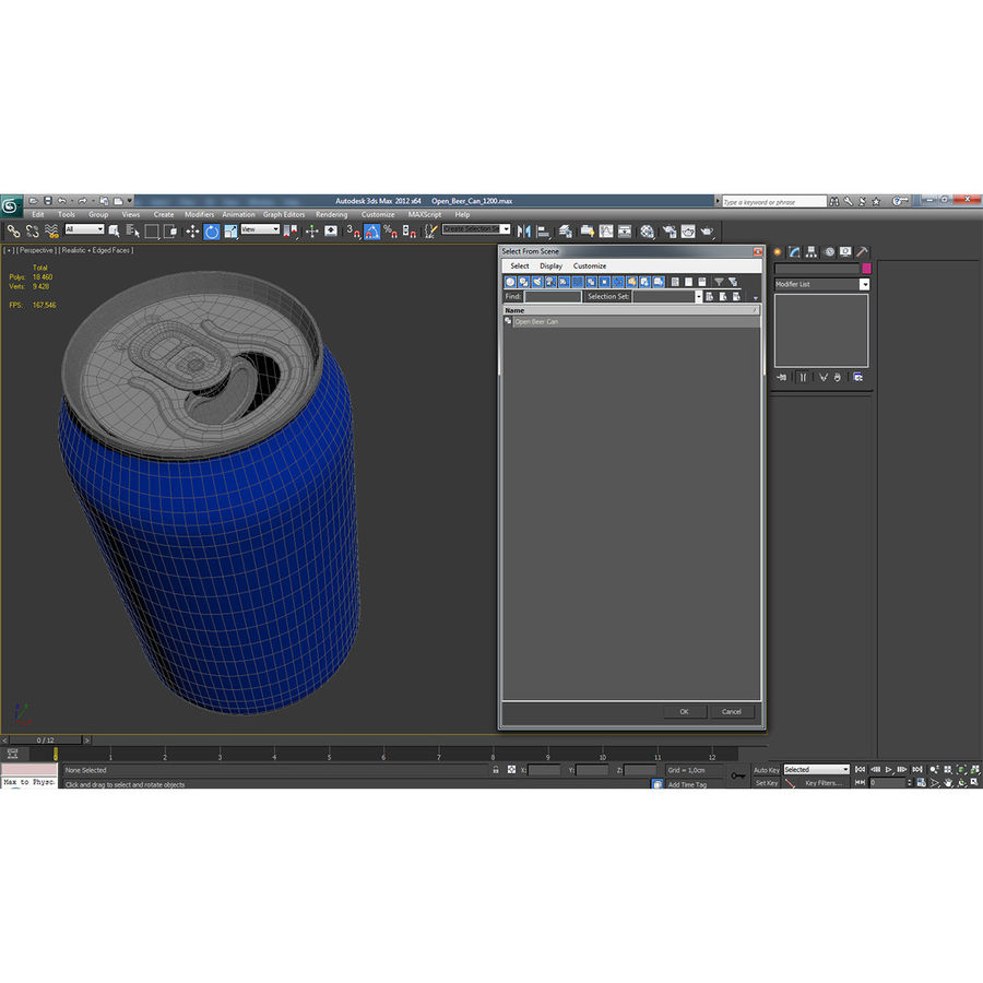 Open Beer Can 3D Model royalty-free 3d model - Preview no. 16