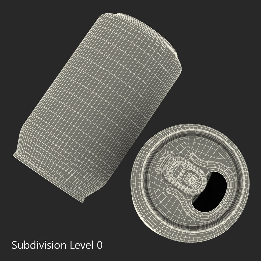 Open Beer Can 3D Model royalty-free 3d model - Preview no. 12