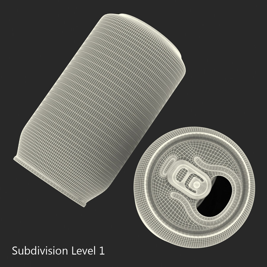 Open Beer Can 3D Model royalty-free 3d model - Preview no. 13