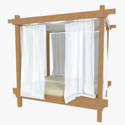 Na zewnątrz łóżko jedno 3d model