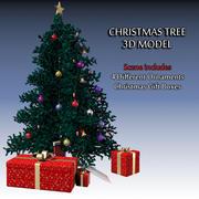 Modelo 3D de árvore de Natal e enfeites 3d model