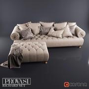 Provasi Richard Sofa+Pouf 3d model