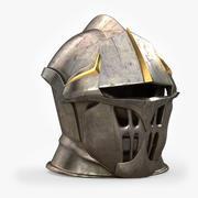 Средневековый шлем 3d model