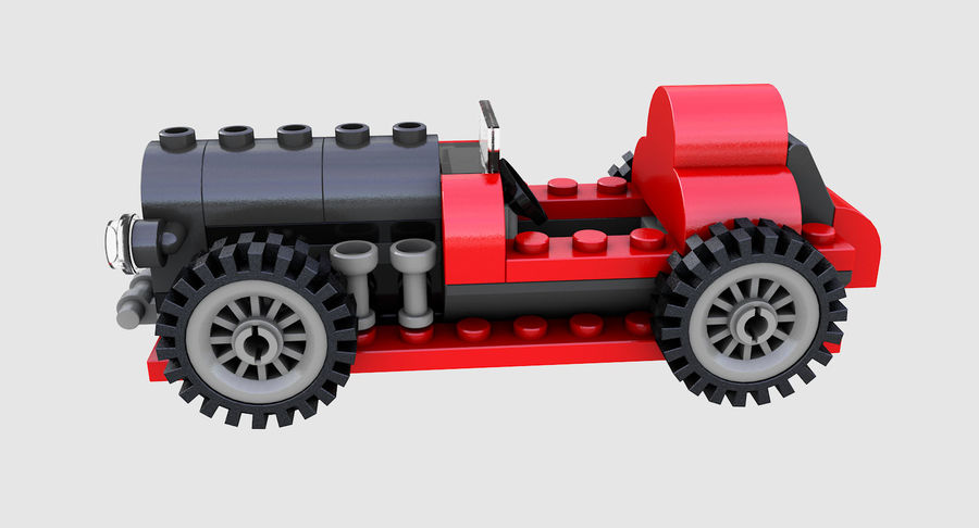 LEGO 5920 Island Racer royalty-free 3d model - Preview no. 4