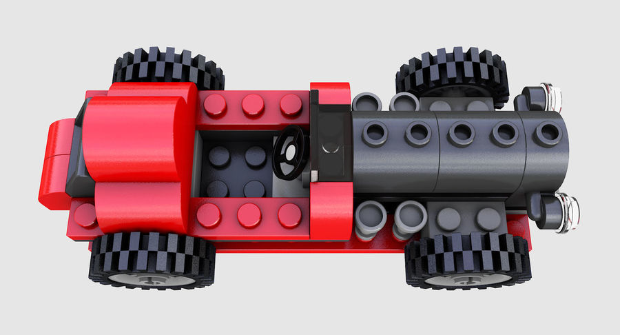 LEGO 5920 Island Racer royalty-free 3d model - Preview no. 8