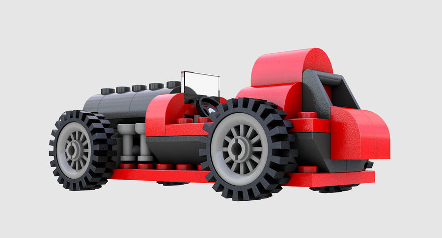 LEGO 5920 Island Racer royalty-free 3d model - Preview no. 6