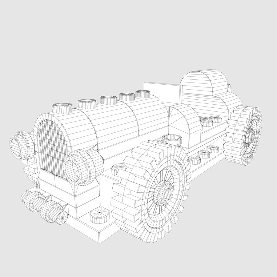 LEGO 5920 Island Racer royalty-free 3d model - Preview no. 3