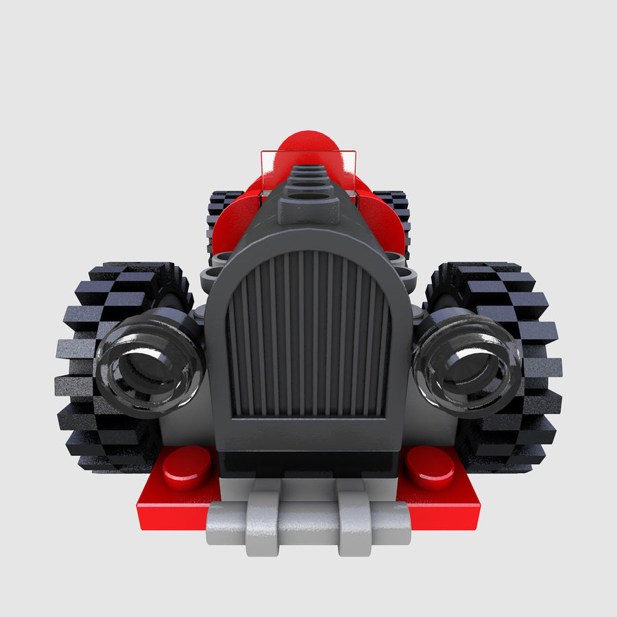 LEGO 5920 Island Racer royalty-free 3d model - Preview no. 10