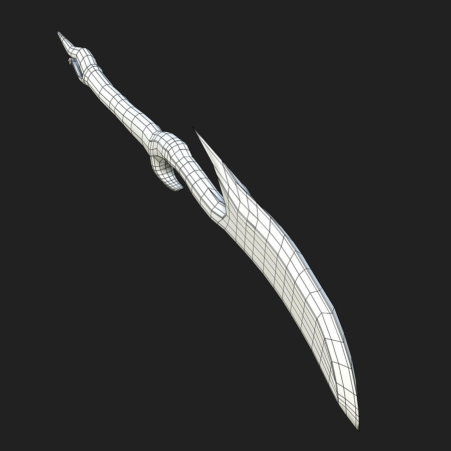 Fantasy Dagger royalty-free 3d model - Preview no. 16