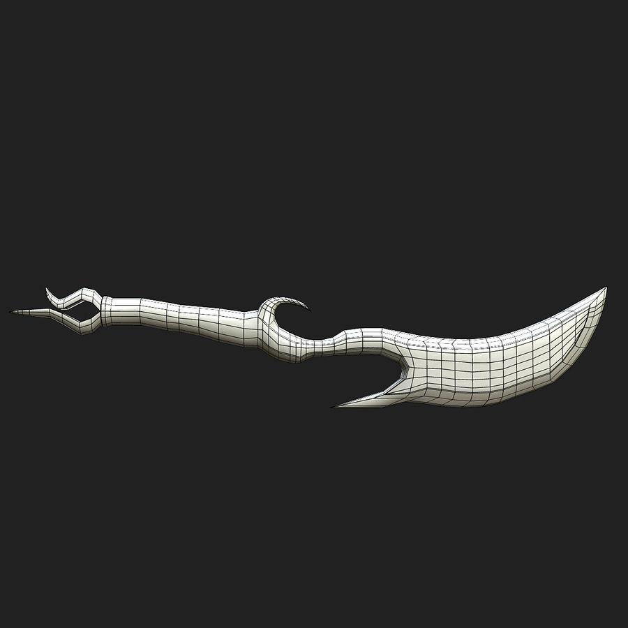 Fantasy Dagger royalty-free 3d model - Preview no. 18