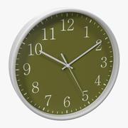 Zegar biurowy 2 Zielony model 3D 3d model