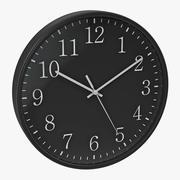 Zegar biurowy 2 Czarny model 3D 3d model