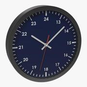 Office Clock Blue 3D Model 3d model