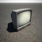 Televisión vieja de CRT modelo 3d