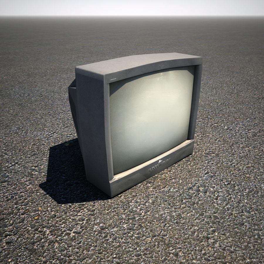 Televisión vieja de CRT royalty-free modelo 3d - Preview no. 1