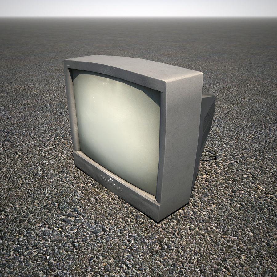 Televisión vieja de CRT royalty-free modelo 3d - Preview no. 3