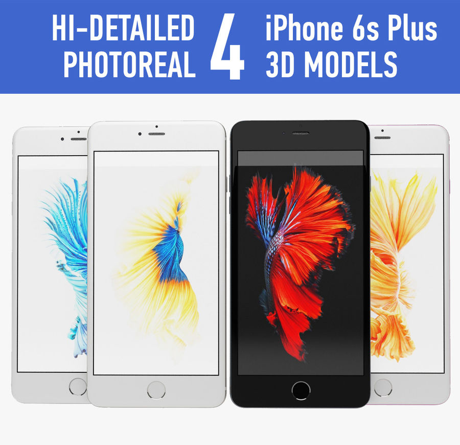 iPhone 6s artı royalty-free 3d model - Preview no. 1