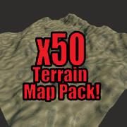 Pakket van 50 woestijnterrassen 3d model