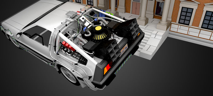 DeLorean - Back To The Future royalty-free 3d model - Preview no. 4
