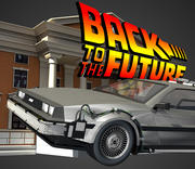 DeLorean - Back To The Future 3d model