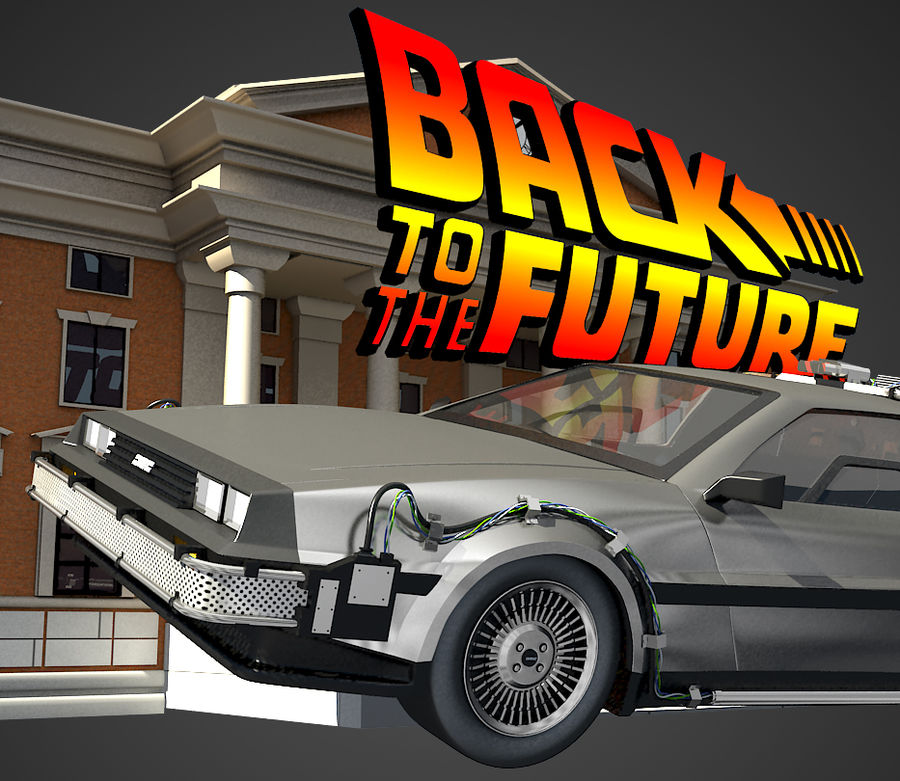 DeLorean - Back To The Future royalty-free 3d model - Preview no. 1
