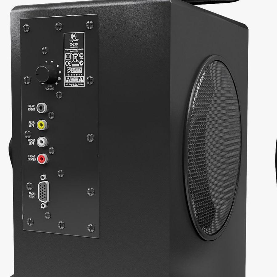 Logitech X-530 royalty-free 3d model - Preview no. 6