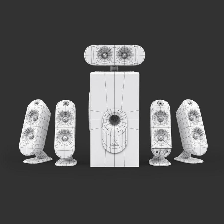 Logitech X-530 royalty-free 3d model - Preview no. 8