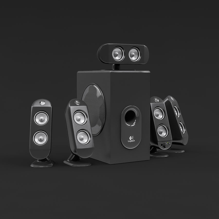 Logitech X-530 royalty-free 3d model - Preview no. 3