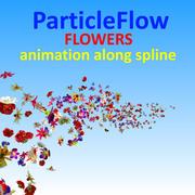 Kwiaty Cząsteczki 3d model