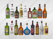 içki şişeleri 3d model