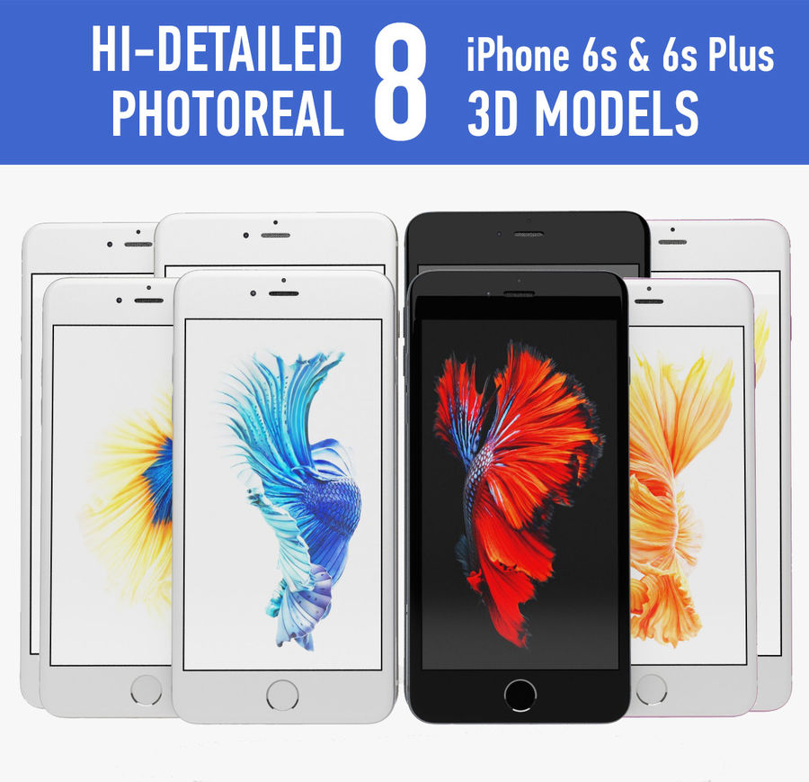Iphone 6s i 6s plus royalty-free 3d model - Preview no. 1