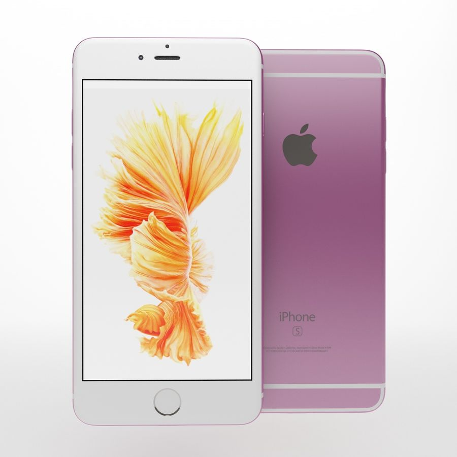 Iphone 6s i 6s plus royalty-free 3d model - Preview no. 14