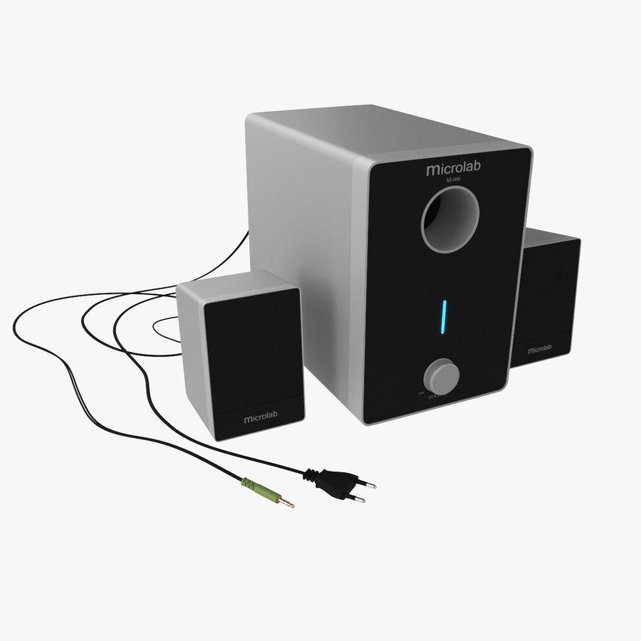 Ses hoparlörleri Microlab royalty-free 3d model - Preview no. 2