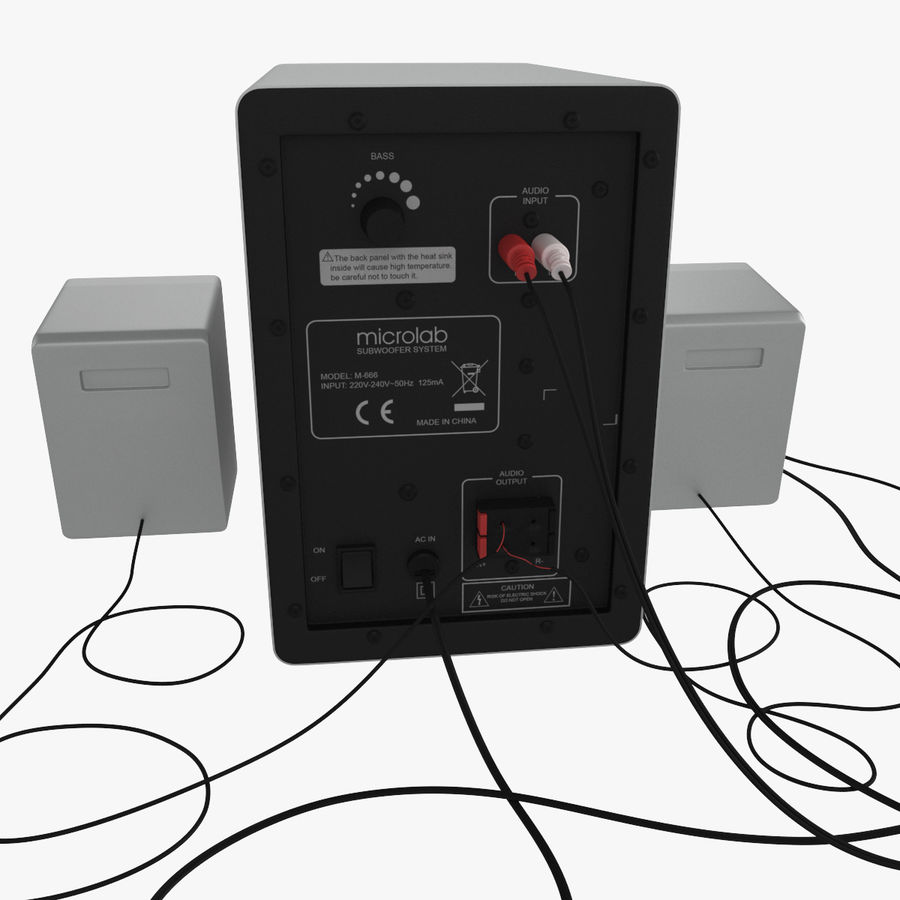 Ses hoparlörleri Microlab royalty-free 3d model - Preview no. 3