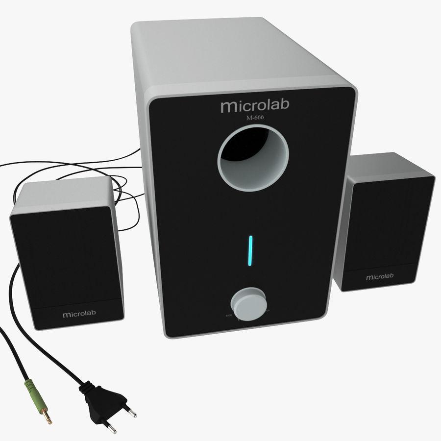 Ses hoparlörleri Microlab royalty-free 3d model - Preview no. 6